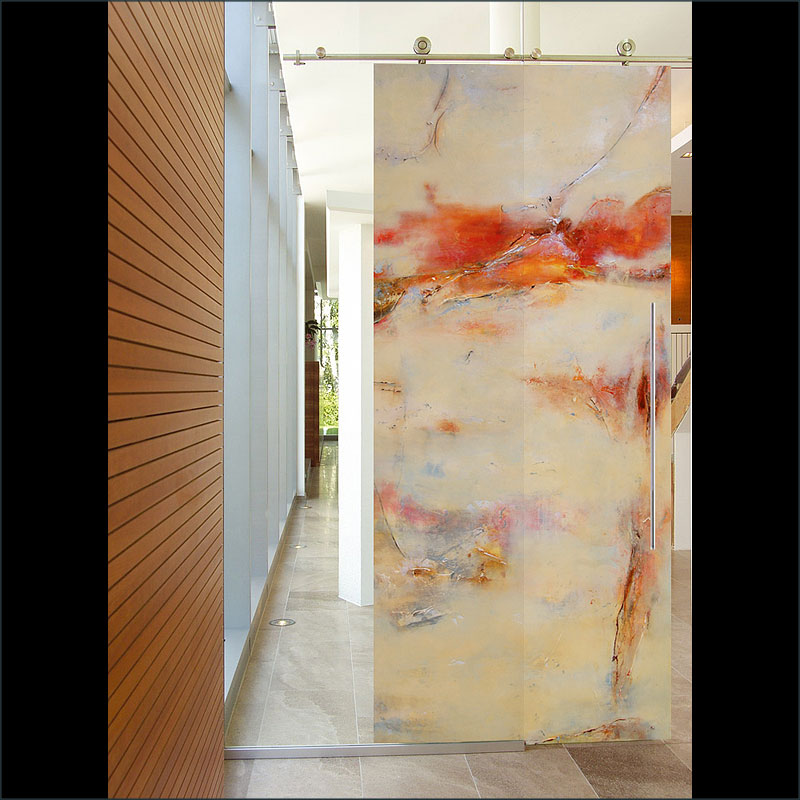 Musei, A fine art, contemporary  door design by Sargam Griffin