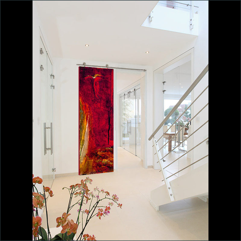 Rossina, A fine art, contemporary  door design by Sargam Griffin
