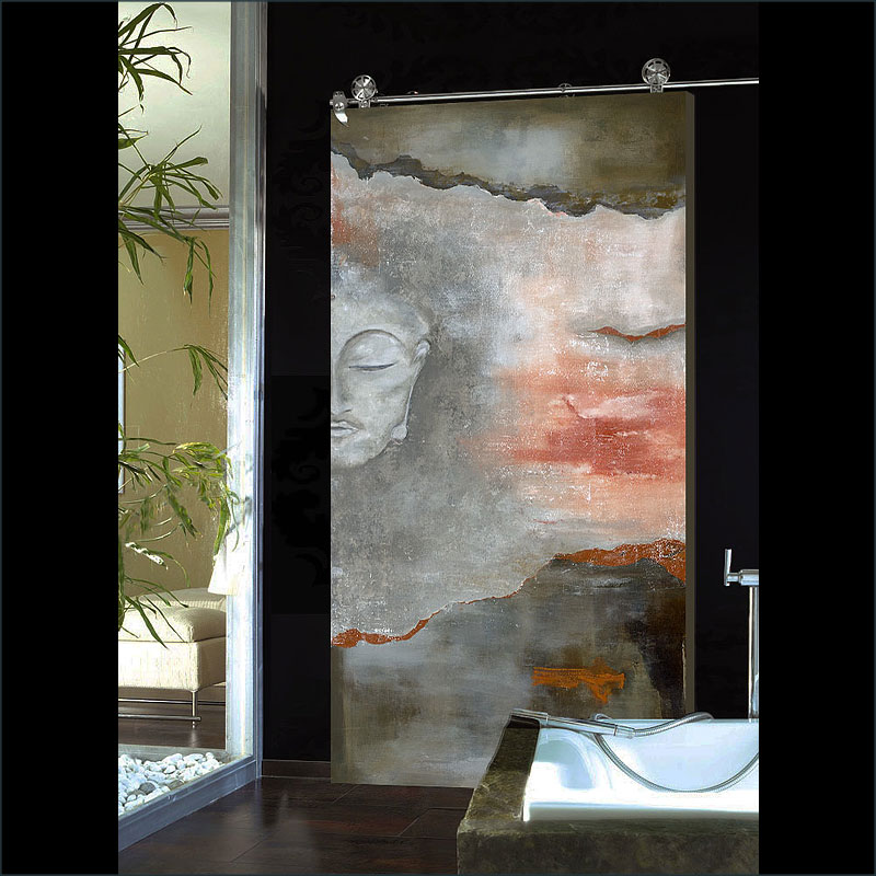 Cefalu, A fine art, contemporary  door design by Sargam Griffin